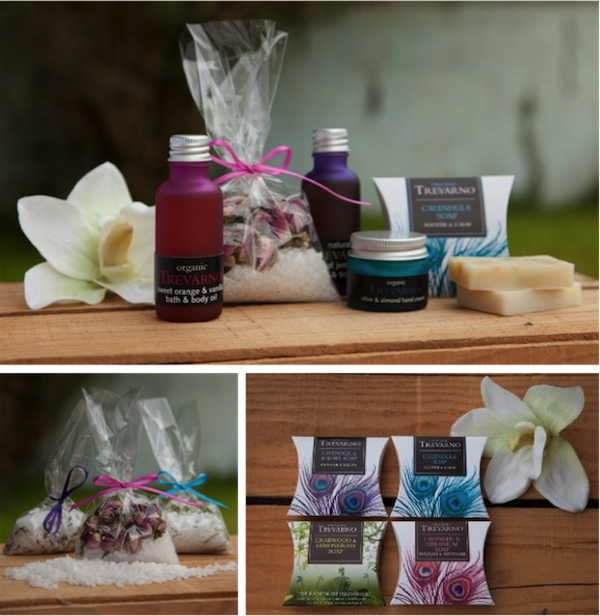Soaps and bath salts by Trevarno Skincare