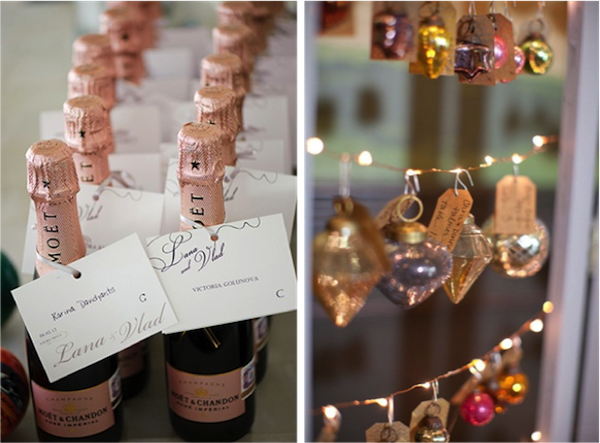 Champagne: P: Steve Hoffmann ; Baubles: Style Me Pretty | P: Frost Photography