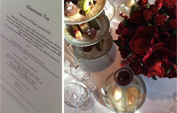 A most delectable champagne afternoon tea courtesy of The Savoy