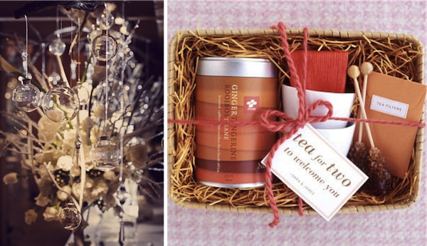 Bauble tree: Junkerman Jones Events Tea for two: Martha Stewart Weddings
