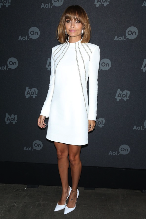 Hot mama, Nicole Richie, looks gorgeous in Hedi Slimane for Saint Laurent.