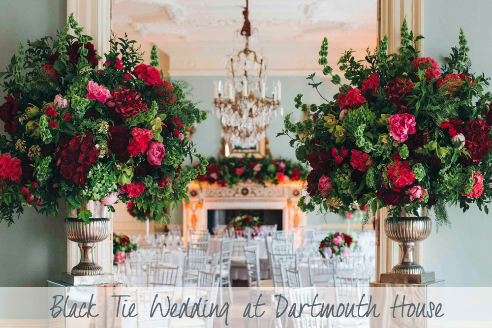 Black Tie Wedding | Dartmouth House Wedding | Luxury Wedding Dartmouth House