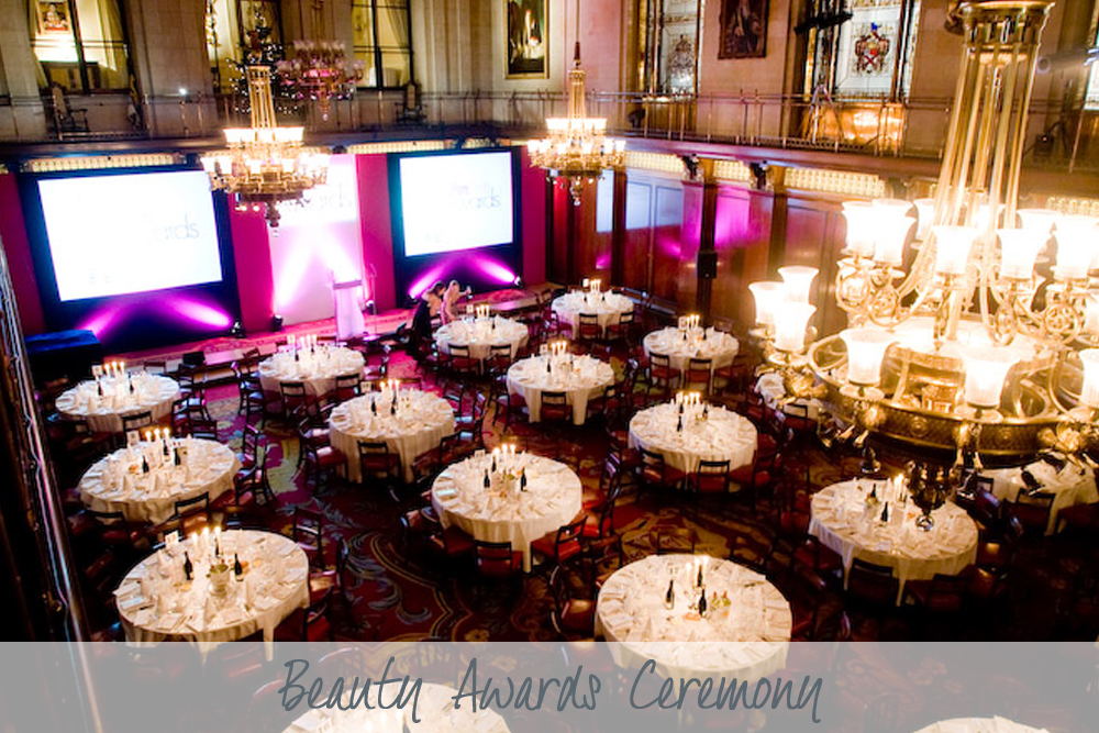 Beauty Awards Ceremony | Awards Ceremony at Merchant Taylor's Hall