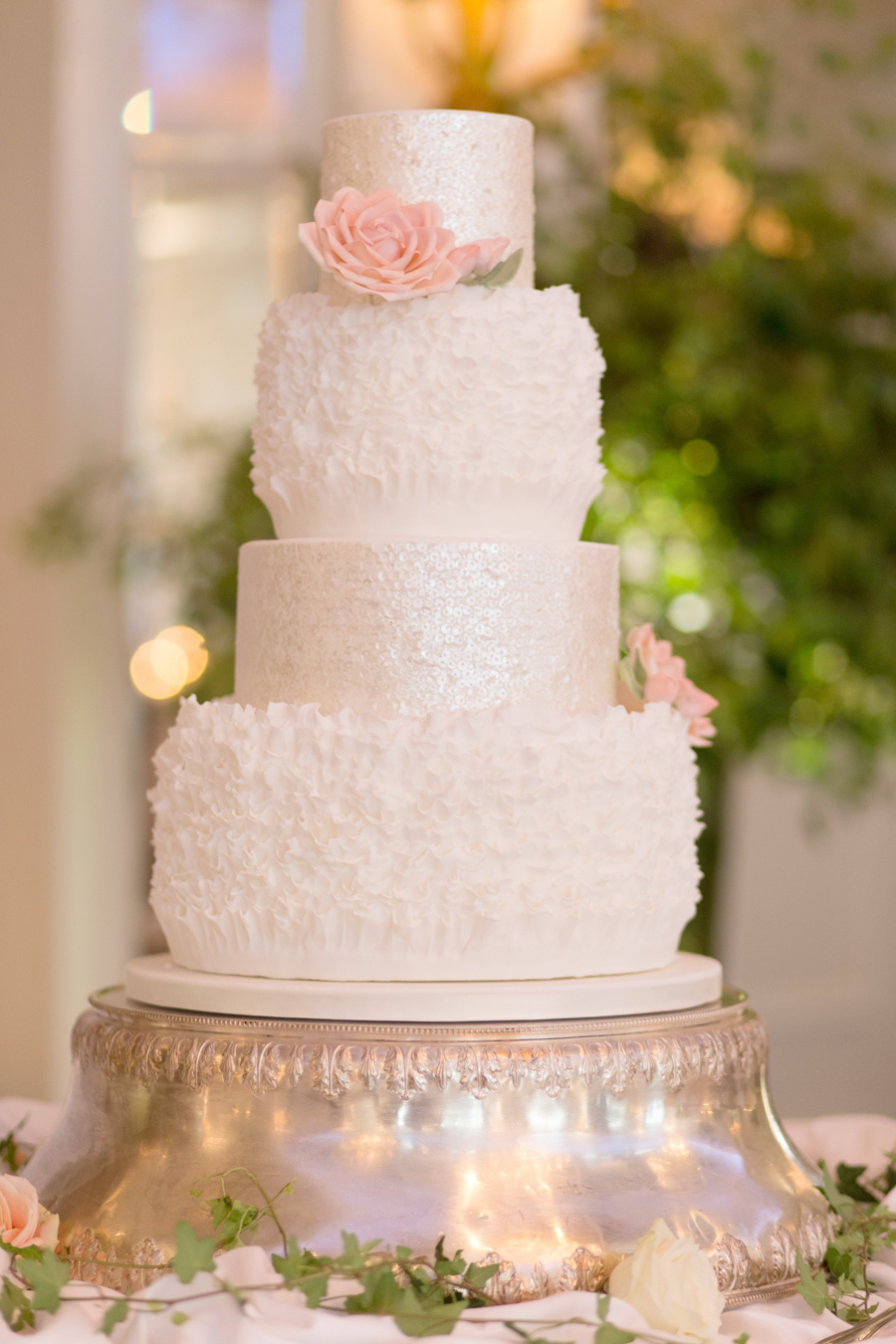 Wedding cake | Peach wedding |  | Luxury Wedding Planner | Lamare London