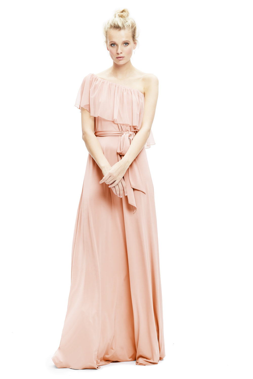 blush-twobirds-bridesmaid-Maya-tulle-dress-one-shoulder | Lamare London | Luxury Wedding Planner London.jpg