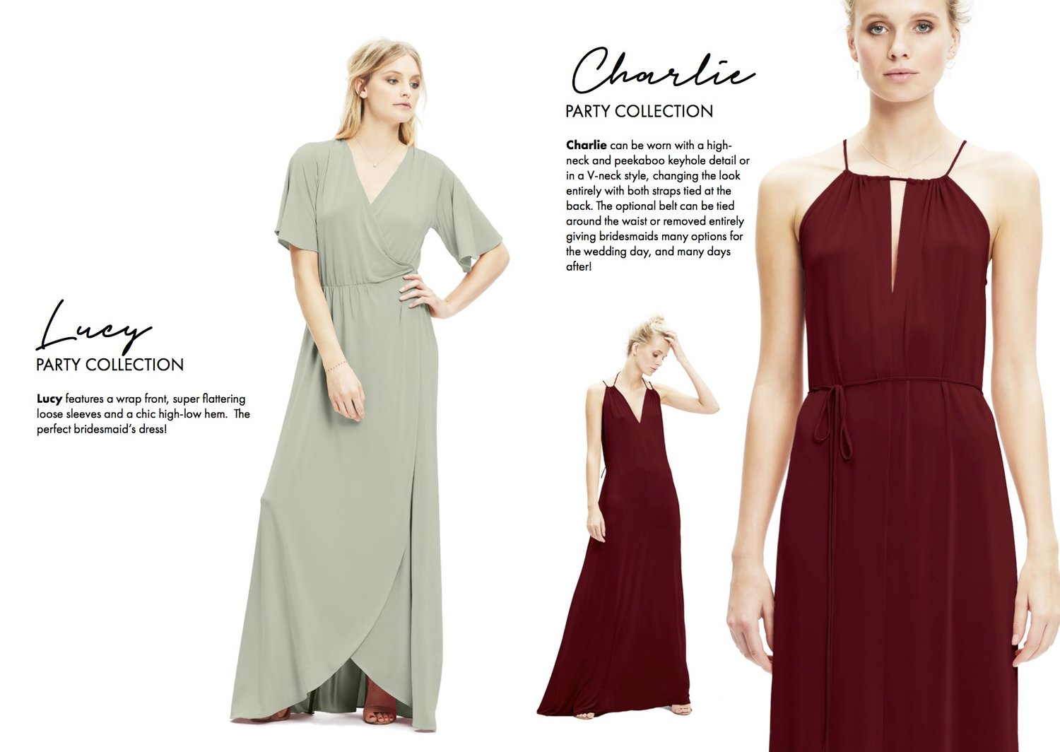 Twobirds bridesmaid party collection lamare london luxury lucy and charlie twobirds bridesmaid party collection bridesmaids dresses luxury wedding planner ombrellifo Images