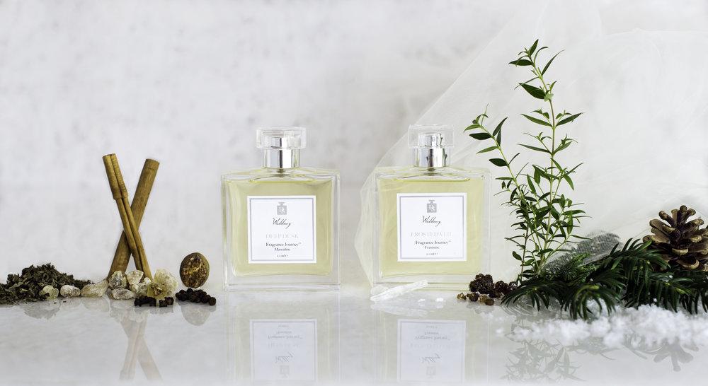 Tomorrow - Deep Dusk Eau de Parfum and Frosted Veil Eau de Parfum | Design in Scent | Wedding Fragrance | Lamare London | Luxury wedding planner London