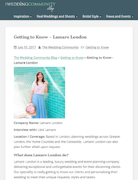 The Wedding Community | Lamare London | Luxury Wedding Planner London