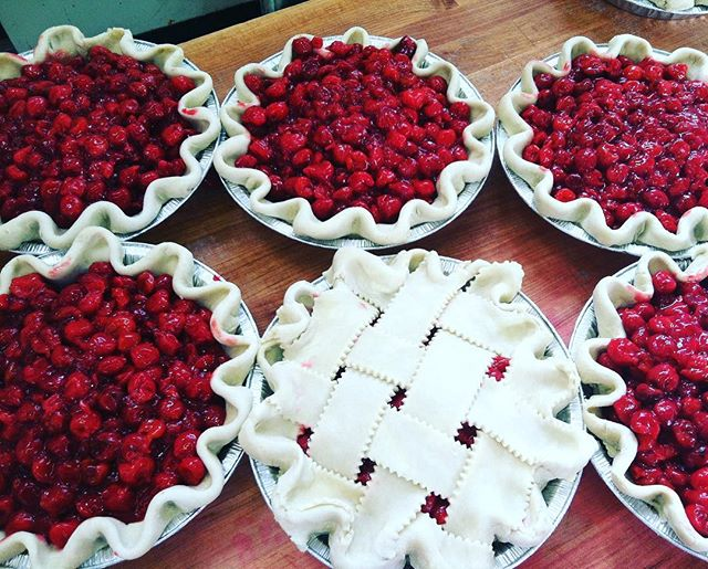 """This Saturday is our cherry pie bake-off starting at 3 pm! Bring your home baked cherry deliciousness and our three guest judges will rate it in three categories  Look, Taste, & Creativity... the scores will be tallied and the top three pies will win the following ... Runner up - a free 9"""" pie from High 5 Pie First prize- dinner for two at Salmon Creek Cafe's Saturday Night Supper Club * up to $50* Grand prize- A free 3 month High 5 Pie Club membership! Free pie delivered to your door 👌🏻 AND one of the judges has deep ties to our restaurant space.. 11 years to be exact... can you guest who?! Sign up today at salmoncreekcafe@gmail.com or just show up! #cherrypie #cherrypiebakeoff #piefordays #pie #pieclub #piepiepie #salmoncreekcafe #baking #bakingcompetition #westseattle #shorewood #tukwila #desmoines #normandypark #whitecenter #burien #seattle #washington #pnwlife"""