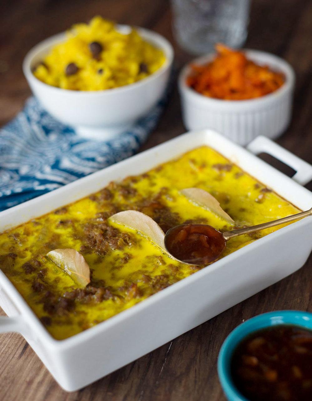 Bobotie & Turmeric Rice