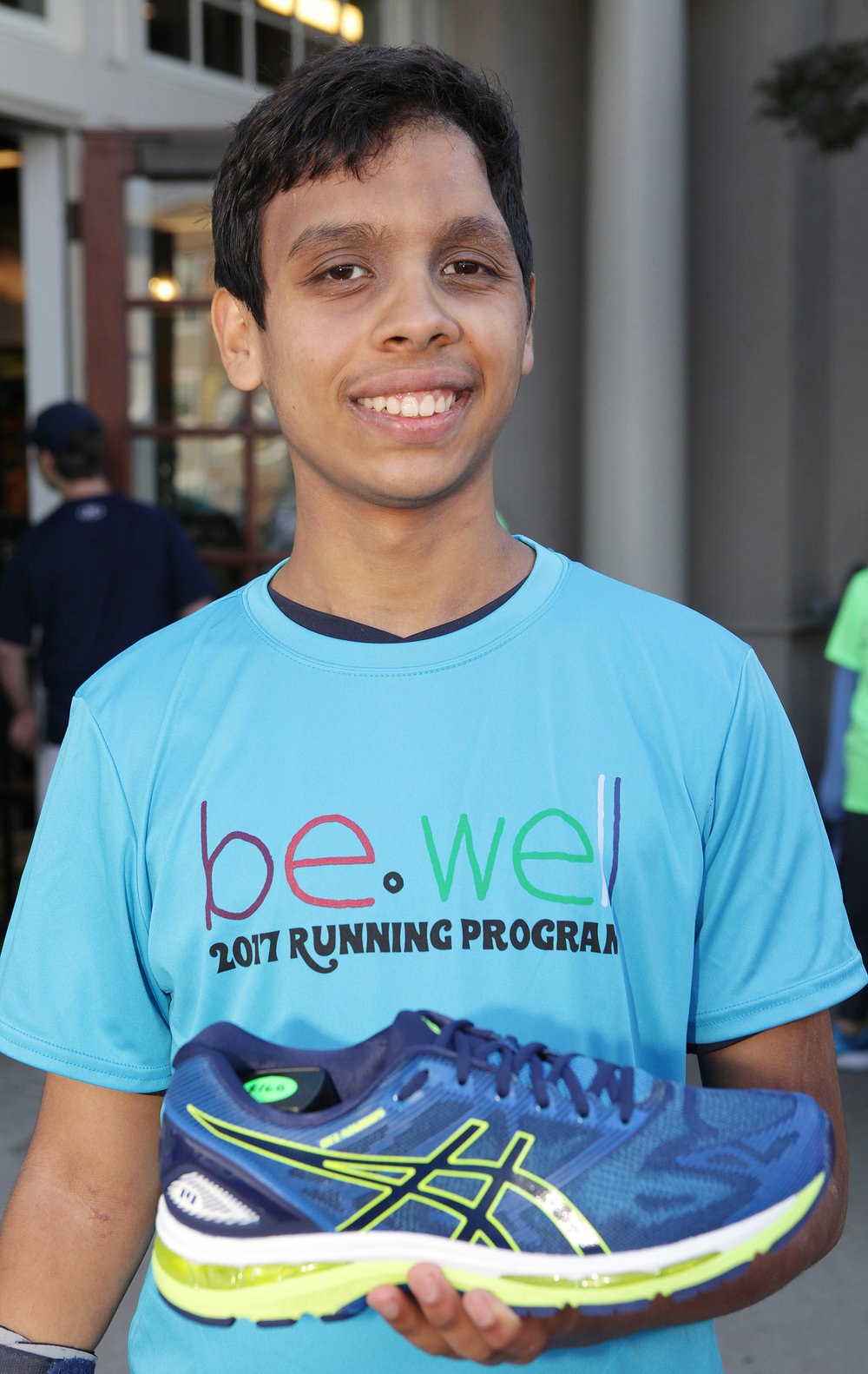 Funds from Design Cincinnati help purchase a new pair of shoes at Fleet Feet Sports for each BeWell runner.