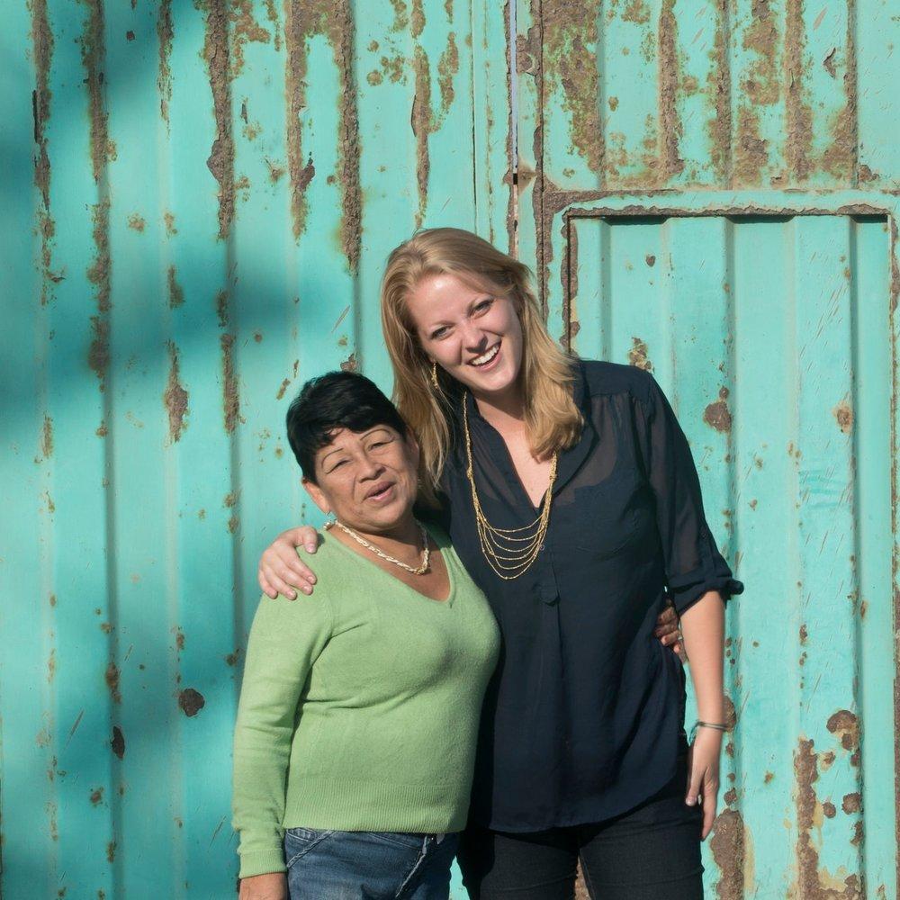 Joy McBrien (right) with Anita (left)