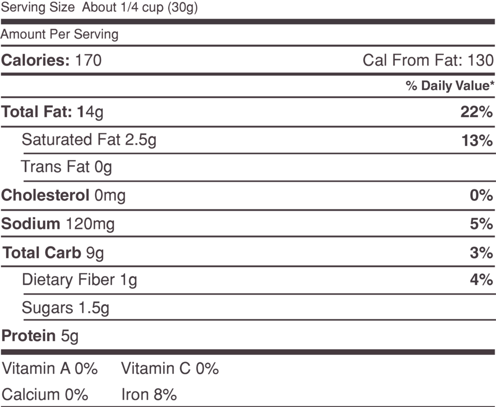 Click to Download Nutrition Label