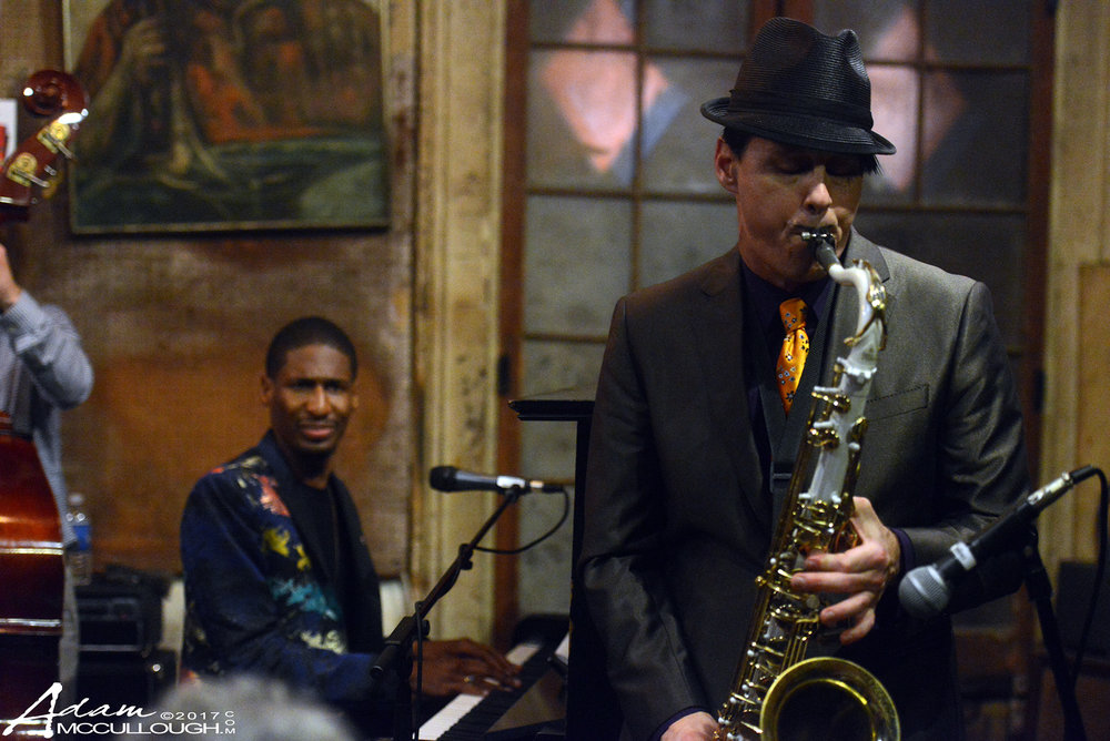 Clint Maedgen of The Preservation Hall Jazz Band & Jon Batiste. Photo courtesy of Adam McCullough
