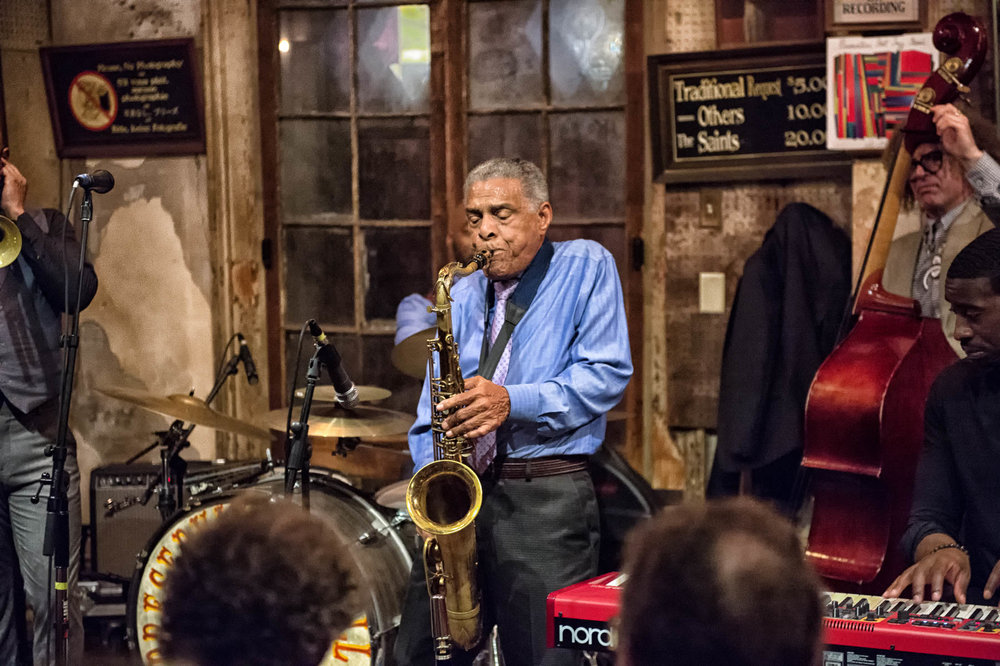 Charlie Gabriel of The Preservation Hall Jazz Band. Photo courtesy of Marc Millman