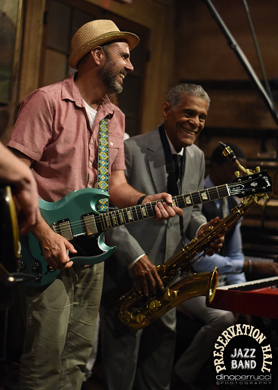 Al Schnier of moe. & Charlie Gabriel of The Preservation Hall Jazz Band. Photo courtesy of Dino Perrucci