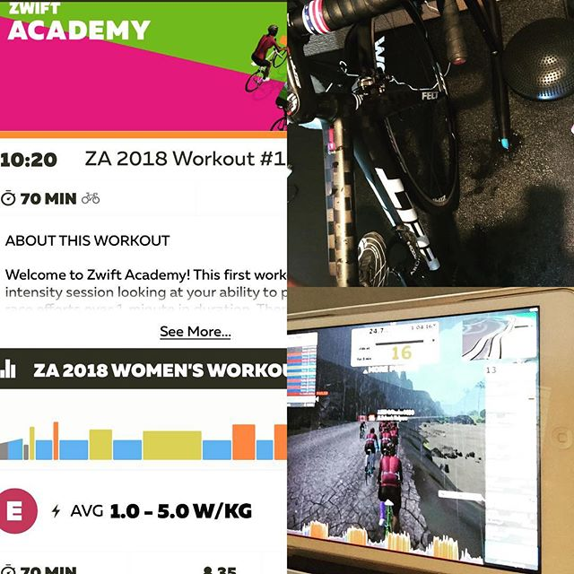 Zwift Academy WKO#1 ✅That was a tough one 💪. Find out more at https://zwift.com/academy. Registration closes on August 19th.  #ZAW2018 @gozwift