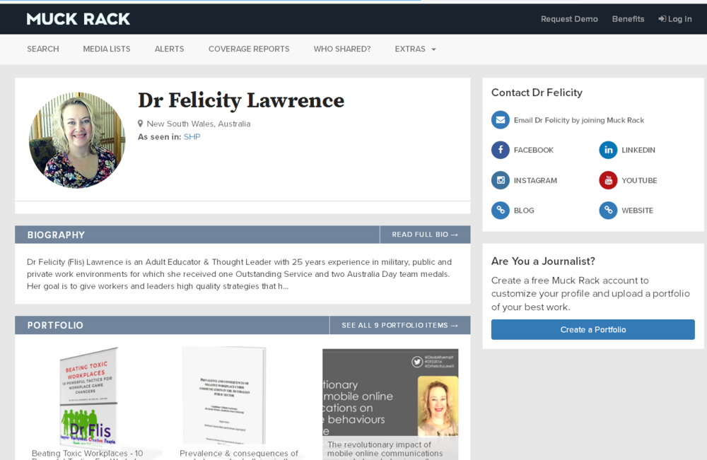Dr Flis_Now on Muckrack for journallists & bloggers.png