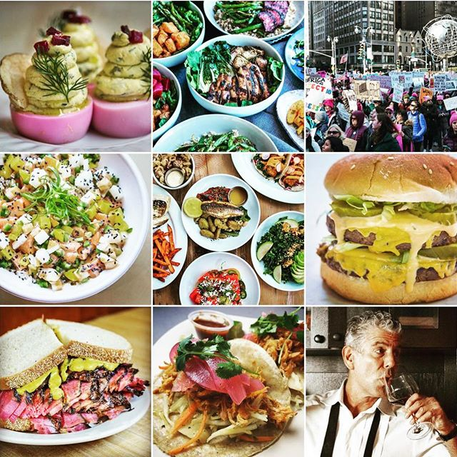 top nine for 2018 - food & protests.