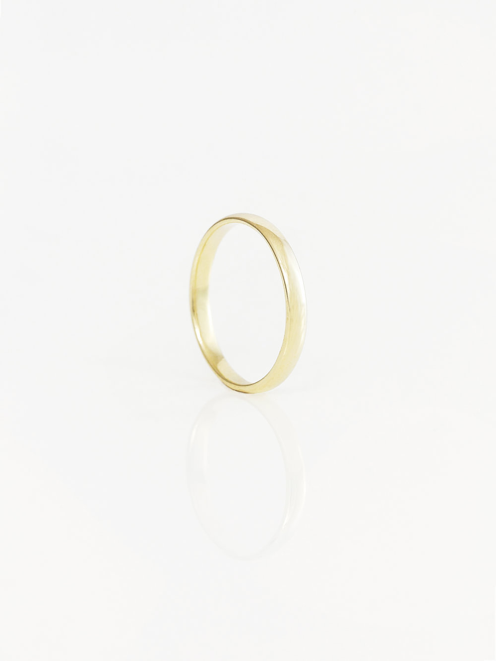 Half Round Wedding Ring 3mm