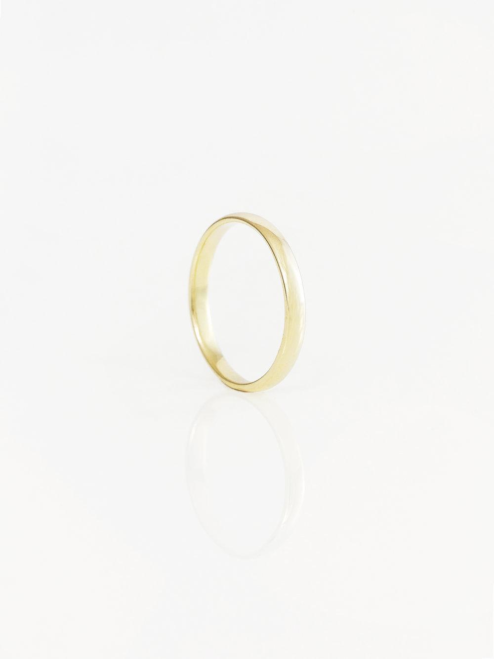 Half Round Wedding Ring 3mm