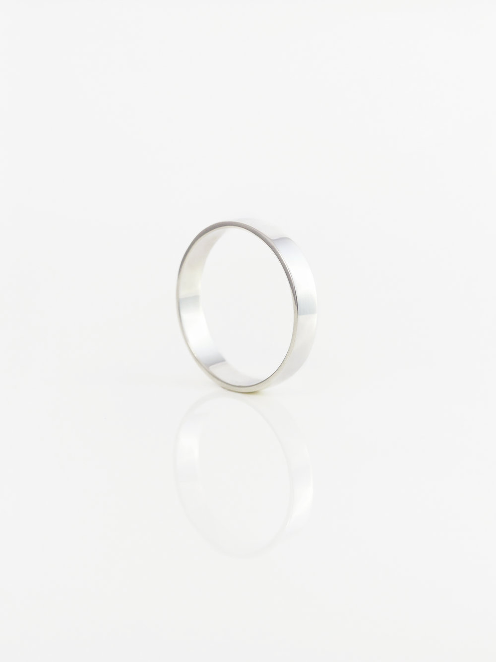 Flat Band Wedding Ring 4mm