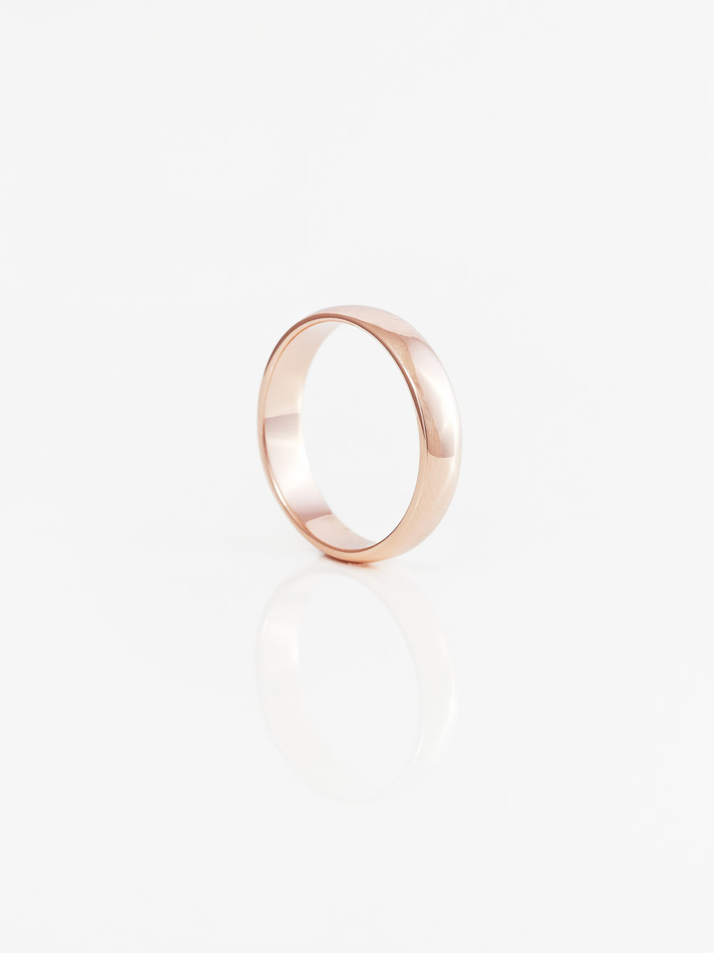 Half Round Wedding Ring 5mm