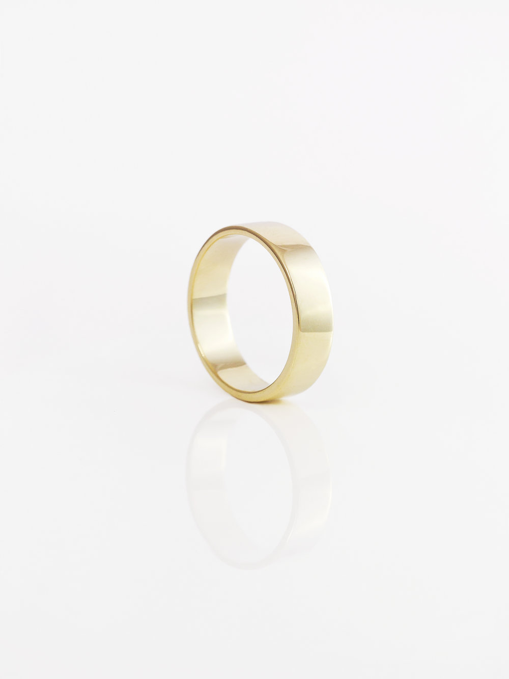 Flat Band Wedding Ring 6mm