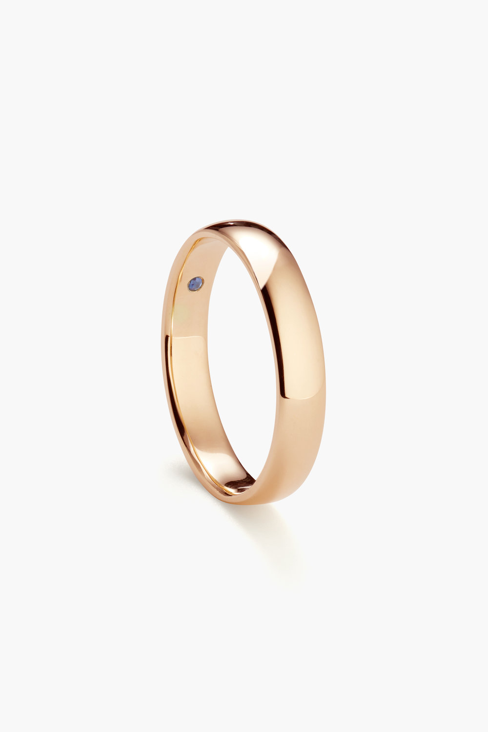 Classic Round, 4mm Rose Gold (Standard with birthstone)