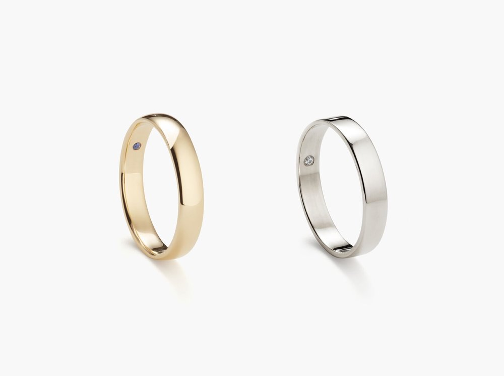 With two timeless styles made from recycled, sustainable gold, we take all the guesswork out of what many men consider to be the most important piece of jewelry they'll ever buy for themselves. -
