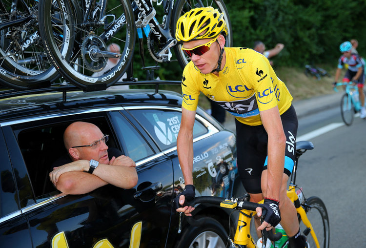 David Brailsford and Chris Froome of Team Sky
