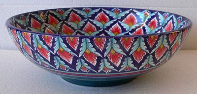 Margherita Blue Red Bowl