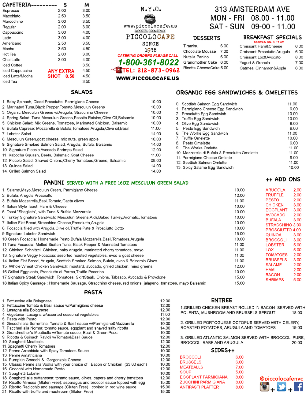 DELIVERY MENU CLICK  HERE