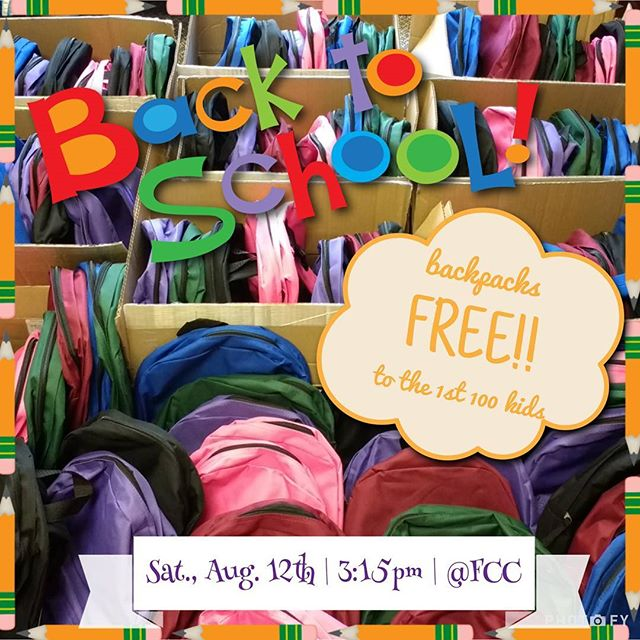 To our community, your friends at Fremont Community Church want to bless you with backpacks and school supplies. Come out Sat., August 12th from 3:15-5:00pm @ 601 N. Coldwater Street, Fremont IN
