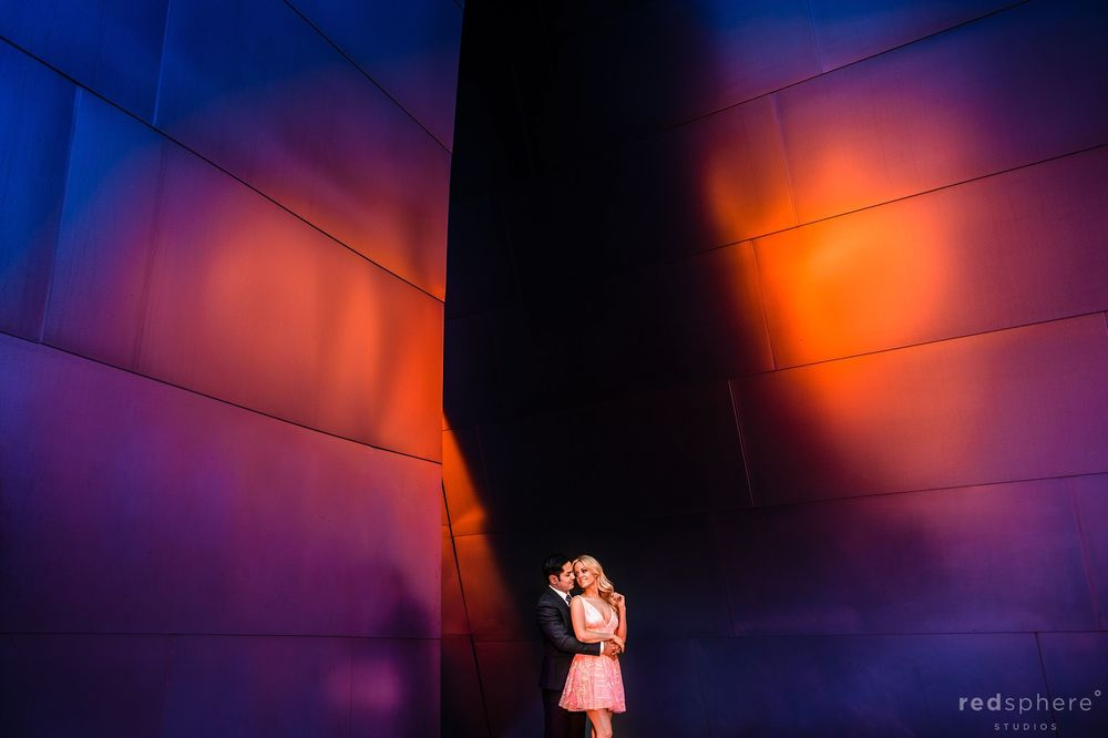 Walt Disney Concert Hall Los Angeles Engagement, Unique Lighting and Background