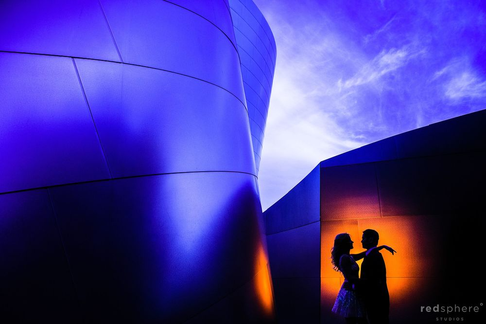 Stage Lighting Silhouette on Dancers at Walt Disney Concert Hall Los Angeles Engagement