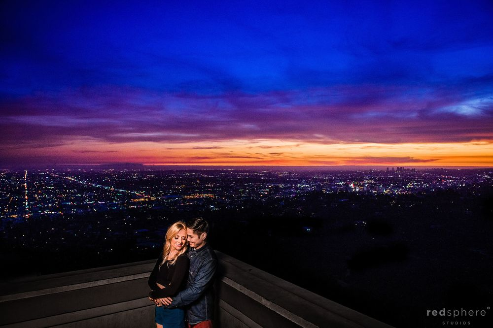 Griffith Observatory Sunset Engagement Los Angeles