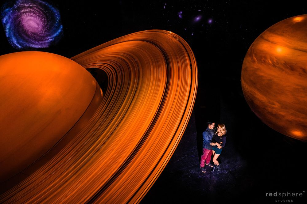 Griffith Observatory Los Angeles Engagement Session, Planets Background