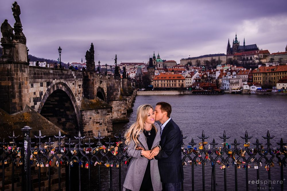 Engagement at Charles Bridge, Prague