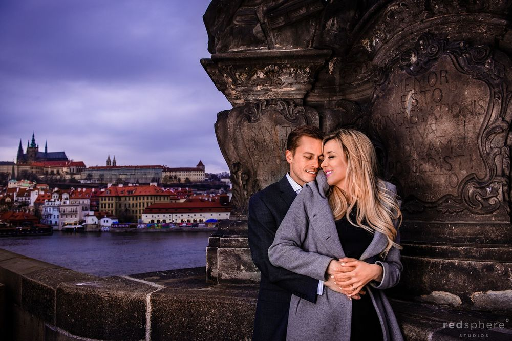 Engagement at Prague's Famous Charles Bridge
