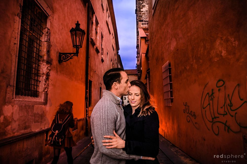 Sweet Couple Engagement at Old Town Prague, Czech Republic