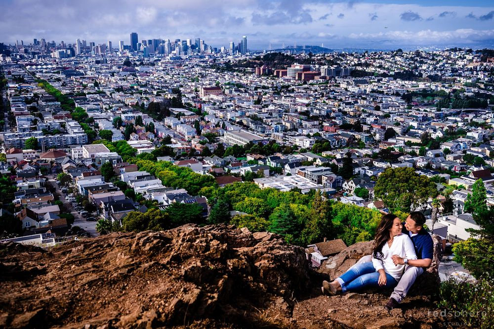 San Francisco Engagement Session Bernal Heights Park