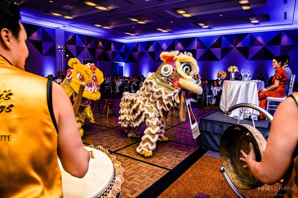 Lion Dance Performance for Bride, Groom and Audience