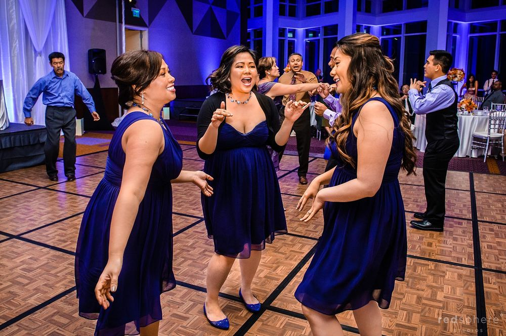 Bridesmaids' Dancing at Intercontinental Hotel After Party