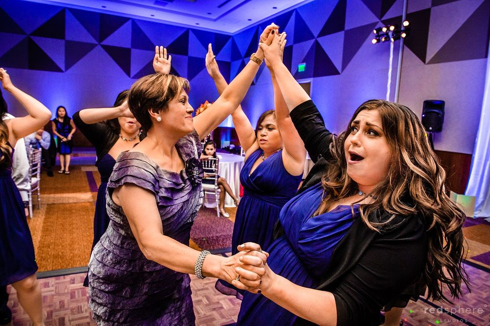Guests Dance To Music at Intercontinental Hotel Wedding After Party