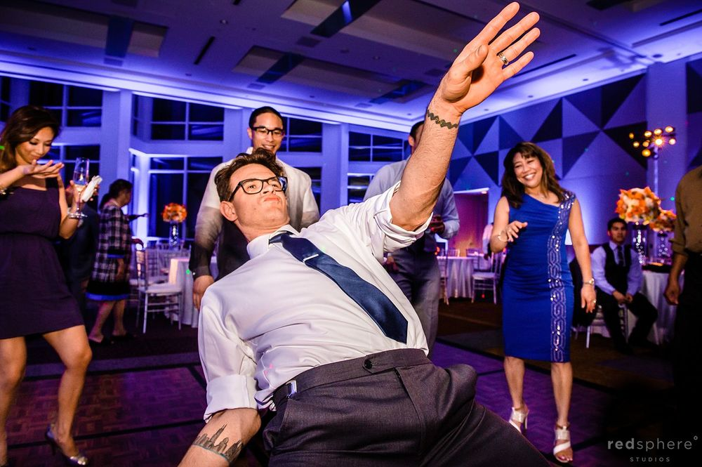 Guests Getting Low While Dancing at Intercontinental Hotel Wedding Reception