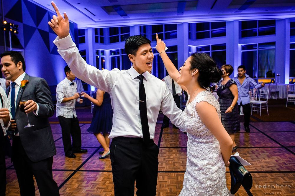 Bride Takes off Heels to Dance With Groom at Intercontinental Hotel Wedding Reception