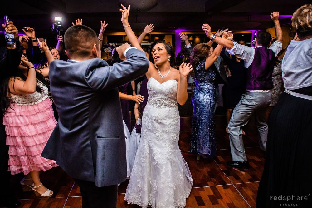 Bride and Groom Showing off Their Dance Moves at Palo Alto Hills Golf Club