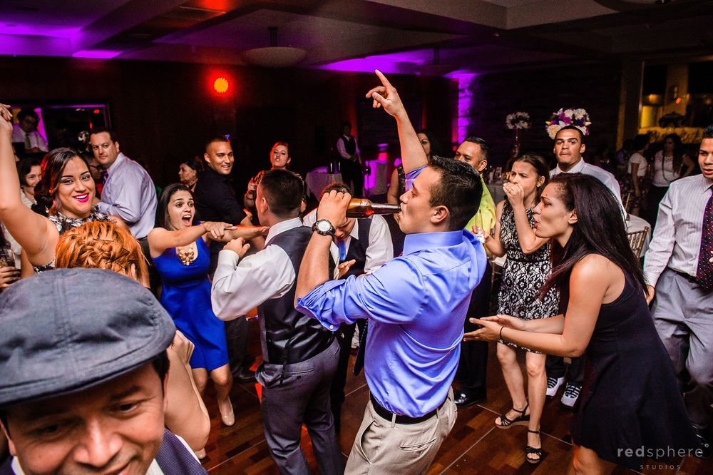 Men Drink Alcohol While Girls Dance at Palo Alto Hills Golf Club After Party