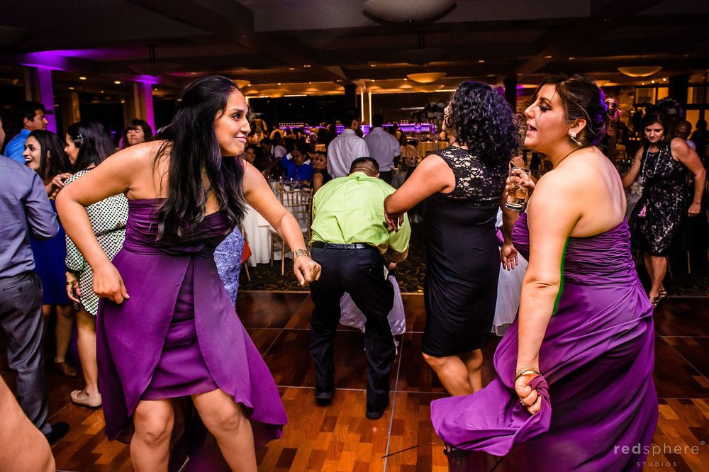Bridesmaid Dance at Palo Alto Hills Golf Club Wedding Reception